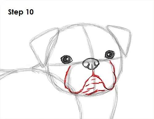 Cartoon Bulldog Running