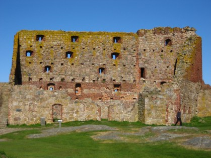 The 13th century castle fortress of Hammershus is said to be the largest medieval fortification in Northern Europe.