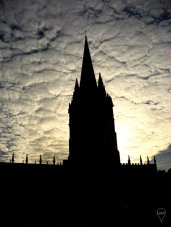 Both Cambridge and Oxford have beautiful spires.