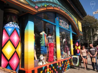 Tie-dyed shirts, tattoo parlors and quirky shops run along the Haight-Ashbury district, famous for the Summer of Love in the 1960s.