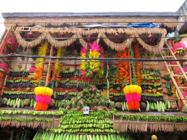 Lucban's Pahiyas is know for the colorful kiping, which is commonly arranged in chandelier or flower configurations