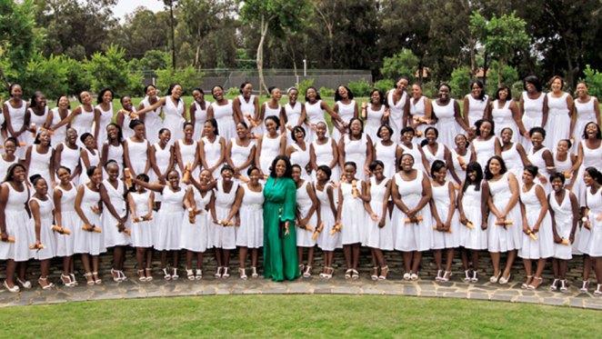 Oprah Winfrey and a graduating set at the academy Source: oprah.com