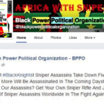 Black Power Political Organisation ,BPPO, Dallas Protest