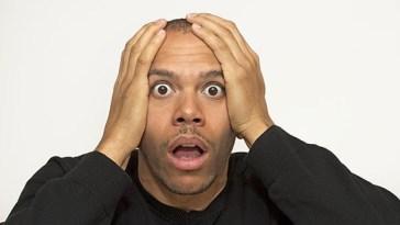 shocked African man