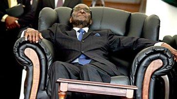 Robert Mugabe, Sleeping, On The Chair