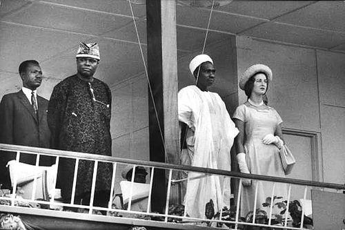 Jaja-Wachuku, President Balewa and Princess Alexandra of Kent,1960