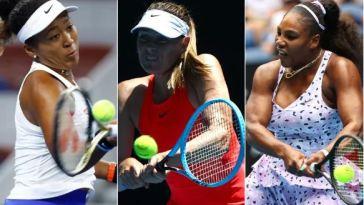 Naomi Osaka , Maria Sharapova and Serena Williams
