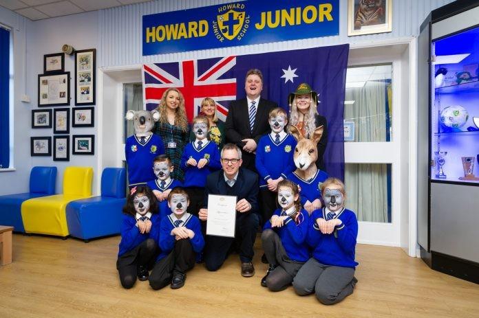 Australian High Commissioner thanks Howard School in King's Lynn
