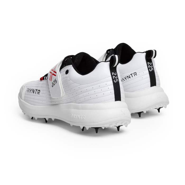 PAYNTR Bodyline 225 Bowling Spike White Trainers