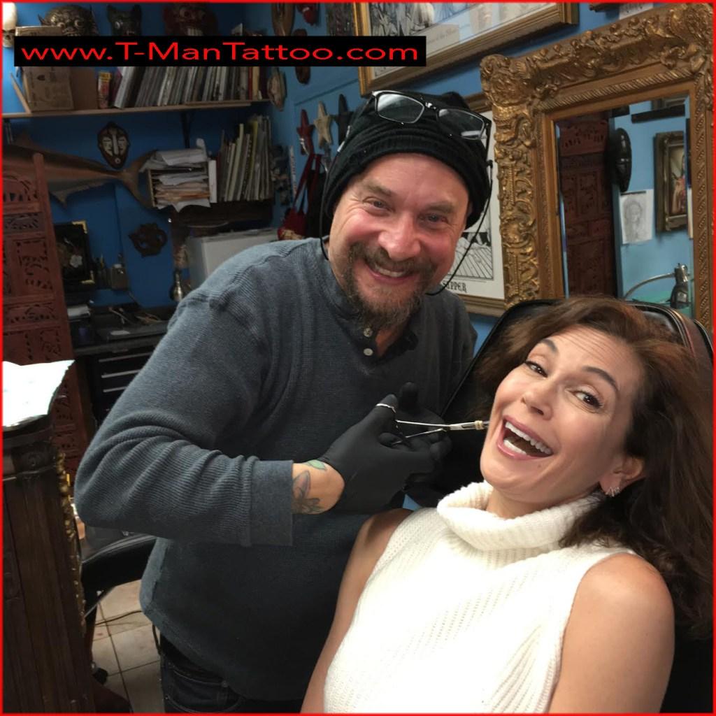 Terri Hatcher at T-Man Tattoo
