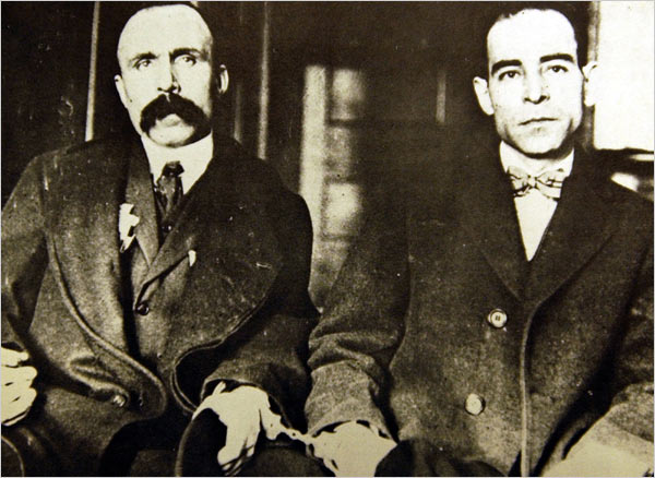 Sacco and Vanzetti • Photographer unknown • WikiCommons