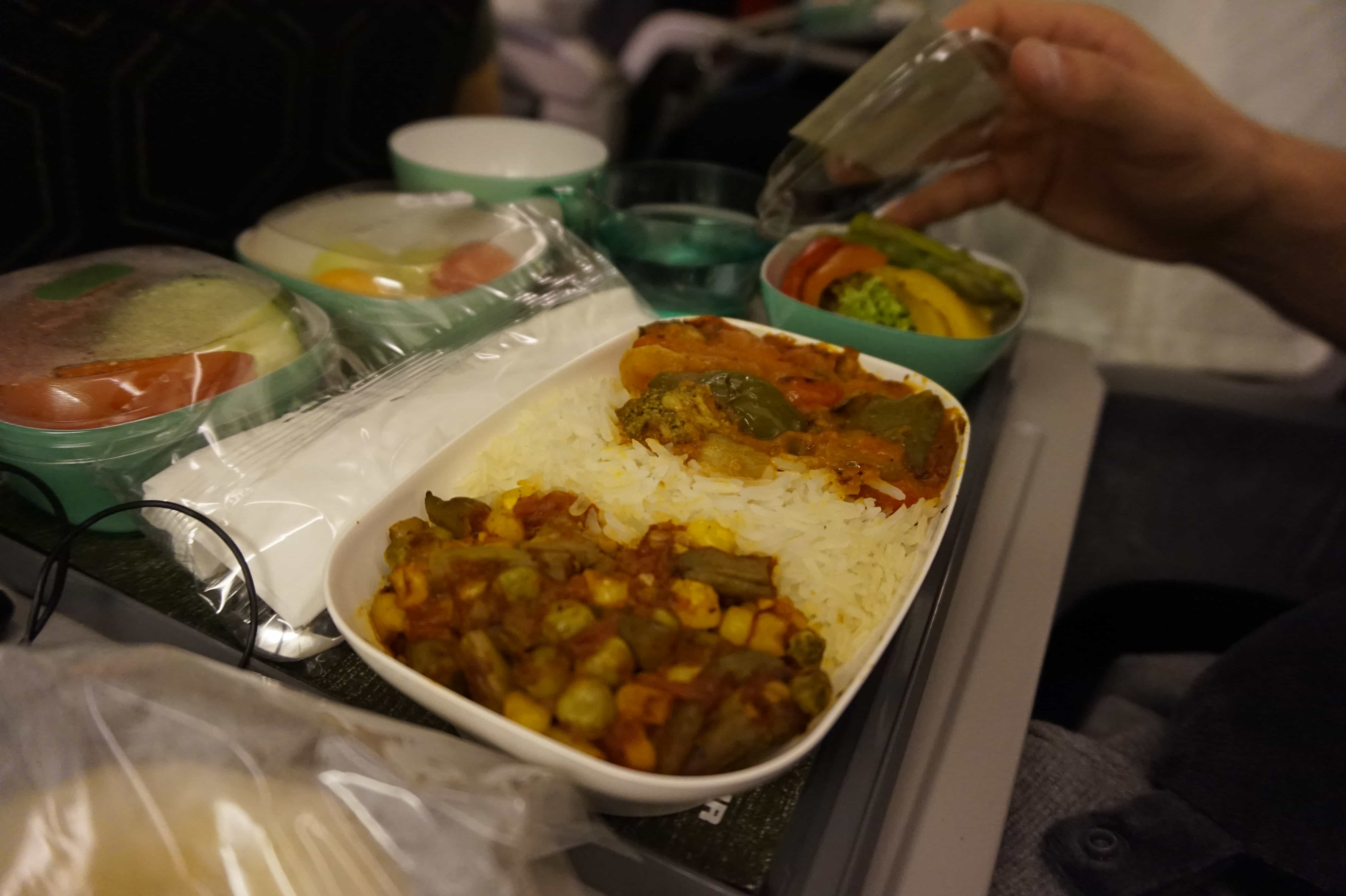 Vegan Airplane Food to Thailand | EVA Airways