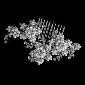 silver rosette bridal tiara bridal accessories weddings how divine
