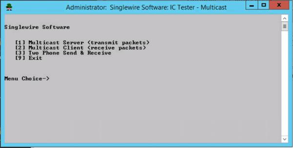 Multicast Stream test Singlewire App 1