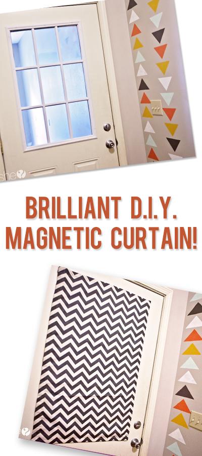 brilliant d i y magnetic curtain