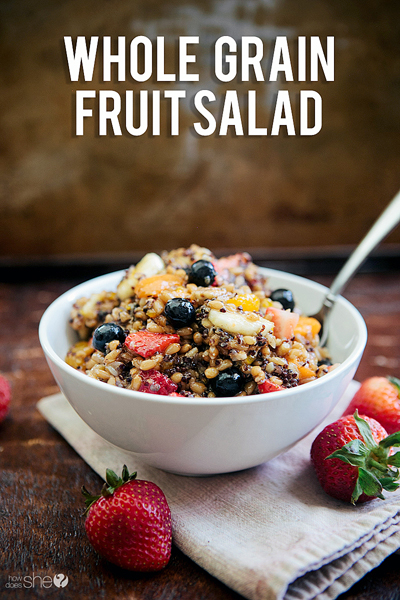 Image result for Salads with Whole Grains and Fruit