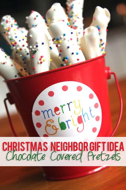14 Christmas Neighbor Gift Idea Chocolate Covered