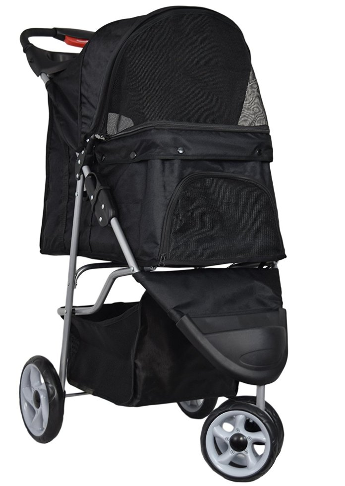 Best Dog Strollers by Vivo 3 Wheel (Black)