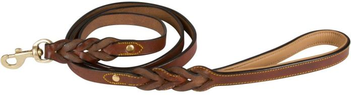 Leather Braided Dog Leash From Soft Touch Collars