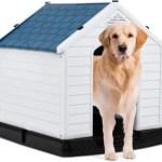 Giantex Plastic Dog House Waterproof Ventilate Pet Kennel