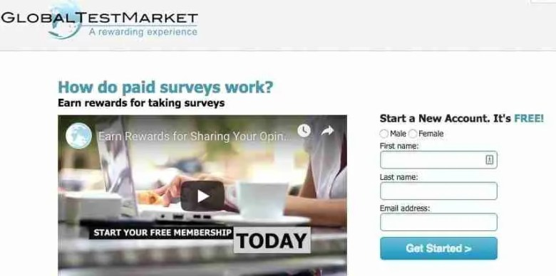 Global Test Market Siti di sondaggi affidabili per fare soldi extra