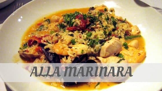 How To Say Alla Marinara