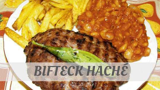 How To Say Bifteck Haché