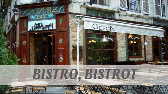 How To Say Bistro