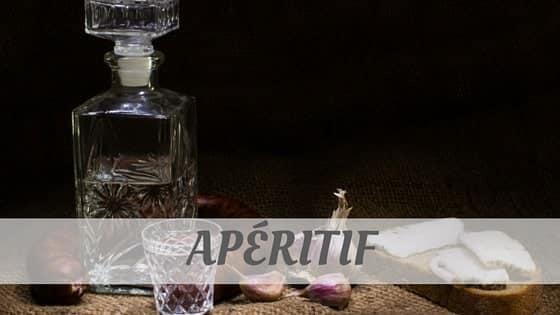 How To Say Apéritif