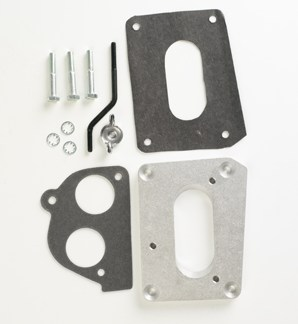 """#H2J - ADAPTER PLATE: Holley 500 2-bbl to GM TBI, .5"""" thick"""