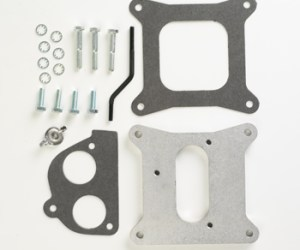 """#H4T2H - ADAPTER PLATE: Holley 4-bbl to 2 TBI, .75"""" Thick"""
