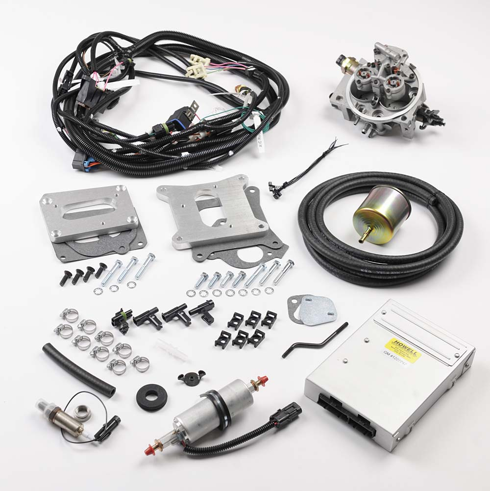 HE365 Cadillac 365 CID TBI Conversion Kit – Howell EFI Conversion on fuel injection vapor lock, fuel injection flow divider, fuel injection control module, fuel injection voltage regulator, fuel injection systems, fuel injection harness connector, fuel injection fuse, fuel injection seat, fuel injection fuel pressure regulator, fuel injection spark plug, dodge fuel injection wire harness, fuel injection throttle cable, fuel injection gauge, fuel injection generator, fuel injection conversion wiring, fuel rail wiring harness, 6.5 diesel glow plug harness, fuel injection fuel rails, fuel injection air cleaner, fuel injection diagram,