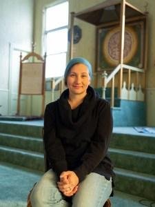 Portrait of Alyssa Haughwout inside a Williamsburg Tartar Mosque