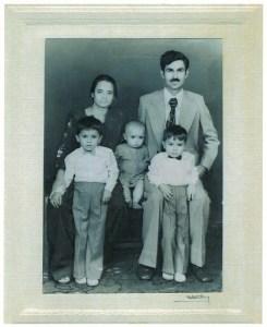 Photo of Razvi family portrait, Lahore, Pakistan, 1976 Razvi