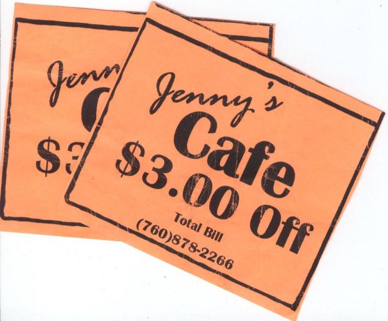 Zniżka na śniadanie w Jenny's Cafe