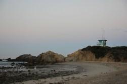 Budka strażników na plaży Leo Carillo