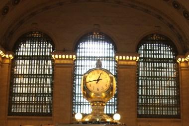 Mosiężny zegar na środku hali głównej Grand Central