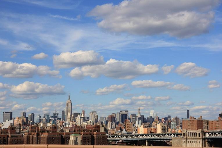 Widok na Manhattan z Mostu Brooklińskiego