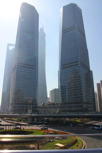 Kładka dla pieszych na Pudong