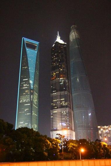 Najwyższe budynki Chin nocą