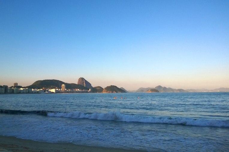 Copacabana tuż przed zachodem słońca