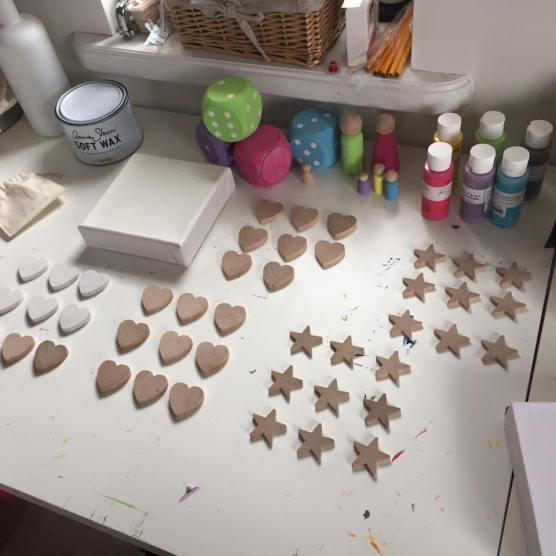 Getting started on new Hearts and Stars Collection