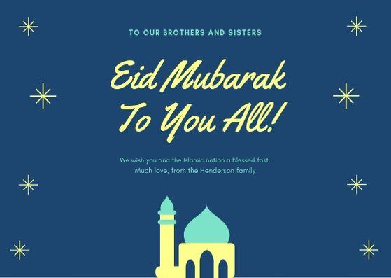 Kartu Ucapan Idul Fitri Bahasa Inggris Bagikan Contoh