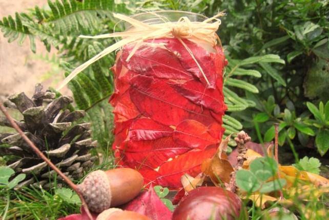 photophore feuilles automne activité enfant