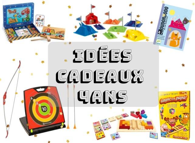 Liste idées cadeaux pour enfant 4 ans Noël anniversaire