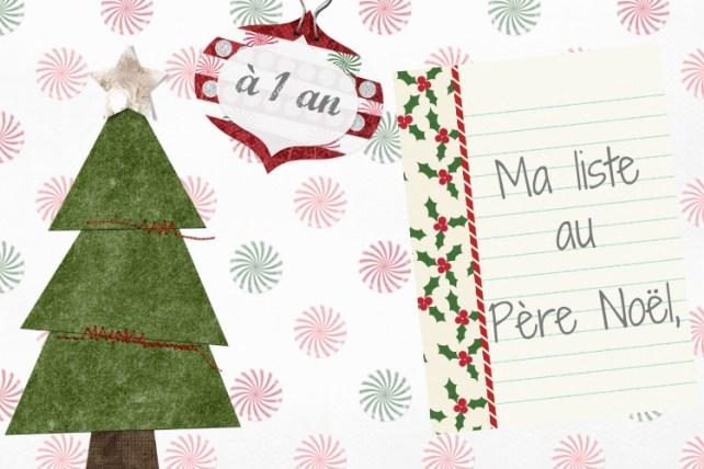 Liste au père Noël à 1 an