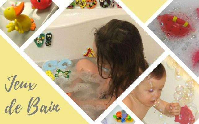 idées de jeux dans le bain avec enfants