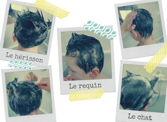 jeux de bain les coiffures de mousse