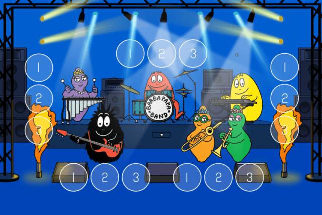 Appli tablette Barbapapa jeu orchestre
