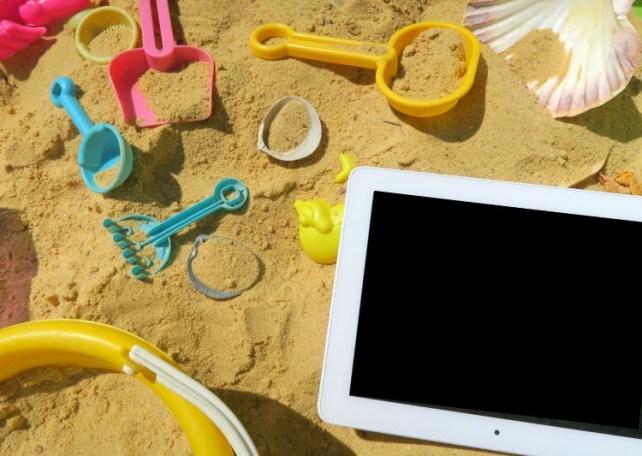 Tablette en vacances avec des enfants application Barbapapa